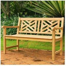 4 Feet Teak Wood Chippendale Bench Durable Stylish Outdoor Decay Resistant