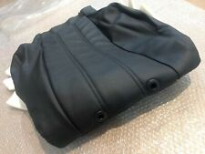 BMW 5 E34 GENUINE SEAT COVER LEATHER (backrest),BLACK(SCHWARZ) , L & R SIDE NEW.