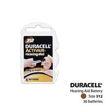 Duracell Size 312 Hearing Aid Batteries (Cards of 4) (36 Cells)