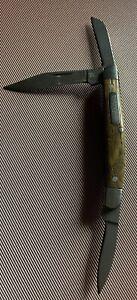 "Winchester 3 Blade Folding Pocket Knife Wood Handle 2 3/4"" Closed"