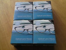 120 OPTICAL Spectacle GLASSES LENS MONITOR SMEAR FREE CLEANING WIPES 4 x 30pk