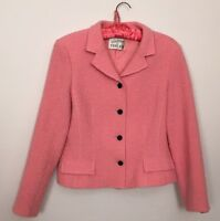 rickie freeman teri jon womens size L Wool jacket Pink Blazer Fitted