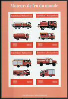 Madagascar 2019 MNH Fire Engines Trucks 4v IMPF M/S Stamps