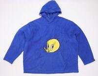 Looney Toons Womens Blue  Fleece Pullover Hoodie Size 20