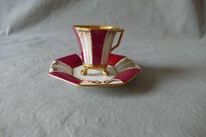Schöne alte MOKKA-Tasse mit UT  Fraureuth   mit Gold-Dekor