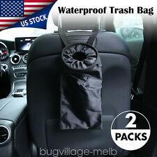Car Wastebasket Trash Bag Can Litter Garbage Keeper Back Seat Headrest Organize