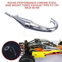 Chrome Steel Side Mount Tuned Exhaust Pipe for Rovan HPI Baja 5B KM
