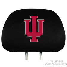 Indiana Hoosiers 2-pack Auto Head Rest Cover Covers Basketball PRO University of