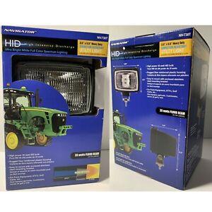 2 Farm Equipment HID Ultra Bright Heavy Duty Vibration Resistant Utility Lights