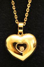 Chopard 18 ct Or Rose Happy Diamant Collier Coeur Flottant Diamant 797417-5001