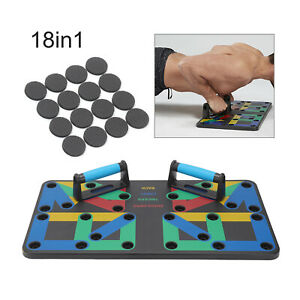 12/18 in 1 Push up Board Stands Fitness Workout Pull rope Chest Muscle Training