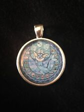 Kingdom Hearts Themed Stained Glass Necklace Keyring Pokemon Vaporeon