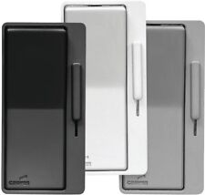 Dimmer Switch Single Pole/3-Way Decorator with Faceplate Kit in Black/White/Gray