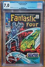FANTASTIC FOUR #74 SILVER SURFER/ GALACTUS COVER 1968 *CGC 7.0 WP