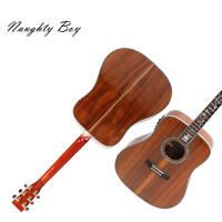 Handmade Electric Acoustic Guitar Solid Koa Top Abalone Inlay Fast Ship Hardcase
