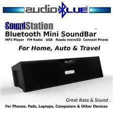 AudioBLUE- Bluetooth Sound Bar BoomBox- FM Radio MP3 USB SD reader-phone/devices