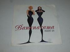 "BANANARAMA-Movin 'on - 1992 UK 2-track 7"" vinyl single"