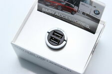 BMW Genuine DUAL USB Charger For Cigarette Lighter Apple iPod iPad iPhone NEW