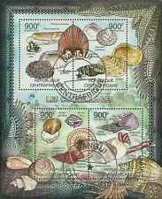 Timbres Coquillages Centrafrique 2348/51 o année 2012 lot 15854 - cote : 20 €