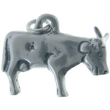 Sterling silver Two-Horned Cow Milagro charm (M-12)