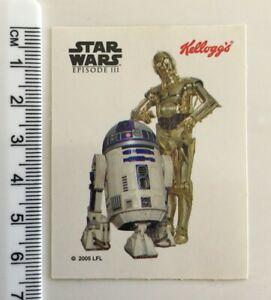 STAR WARS Kellogg's sticker - 2005 UFL - Star Wars Episode III collectable