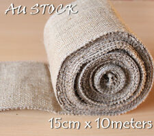 15CM X 10M Hessian Jute Burlap Ribbon Roll Vintage Wedding Decoration Chair Sash
