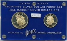 Prototype Silver Dollar Proof Set (#3726) Gold Standard Corp. 1982 $1 and 1/2 Do