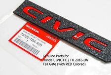 RED CIVIC EMBLEM LOGO FOR NEW HONDA CIVIC FC FK VTEC TURBO 2015-19 OEM TAILGATE