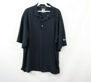 FootJoy Mens Large ProDry Pique Short Sleeve Casual Golfing Golf Polo Shirt Navy