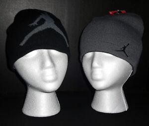 NWT JORDAN Boys Black & Red or Grey & Black Reversible Beanie(Size Youth 8/20)