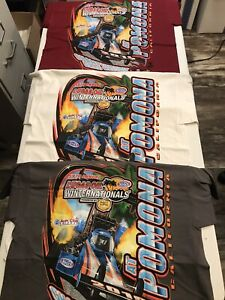LOT OF 3  NHRA DRAG #2 RACING 2019 EVENT T- SHIRTS ALL 3 SIZE LARGE