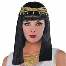Amscan Cleopatra Goddess Egyptian Queen Party Costume Wig | Black & Gold