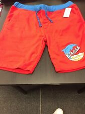 PINK DOLPHIN SWEAT SHORTS RED BLUE SIZE 34!!