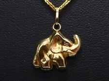 Anhänger pendant 333 GOLD pendentif 8 Karat Elefant Afrika elephant 8k oro or