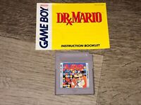 Dr. Mario w/Manual Nintendo Game Boy Cleaned & Tested Authentic