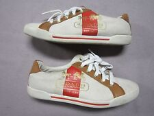 COACH WOMENS RARE MARTIE NATURAL BROWN SNEAKERS SHOES SIZE 6.5 PREOWNED