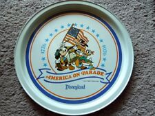 "Original Disneyland 1976 American On Parade 10 3/4"" Metal Serving Tray MINT"