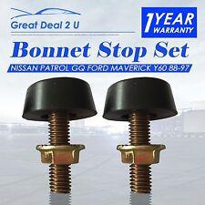Pair Bonnet Bump Bumper Rubber Stop Nissan Patrol GQ Y60 Ford Maverick 88-97
