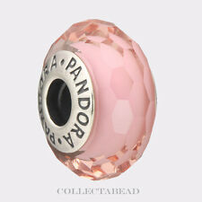 Authentic Pandora Sterling Silver Murano Fascinating Pink Bead 791068