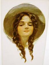 Harrison Fisher Girl PRAIRIE BELLE 1913 Art Print Matted