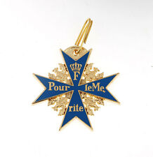 WWI GERMAN ARMY BLUE MAX MEDAL BADGE WITH RIBBON  -33545