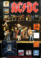"AC/DC Poster 1996 UK PROMO ONLY Tour Poster Ballbreaker 24"" In-Store Only"