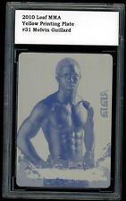 2010 Leaf MMA MELVIN GUILLARD Yellow Printing Plate