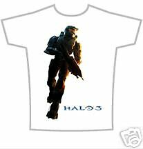 HALO 3 MASTER CHIEF WHITE T-SHIRT ~ XL  x-box 360