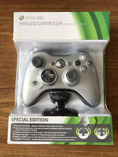 Microsoft Xbox 360 Special Edition Silver Wireless Controller Brand New Sealed