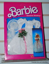 Barbie Romantic Wedding White Lace With Veil & Bouquet 1986 MiIB Original owner