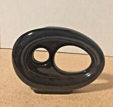 Small Ceramic Modern Art Vase Black