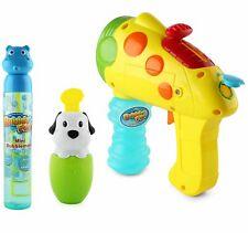 Bubble Gun Toy Set - Includes 2 in 1 Bubble n Water Gun Shooter, Spill...