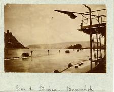 Allemagne, le Binger Loch, trou de Bingen vintage albumen print,Photos provena