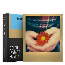 Impossible 600 Color Film PRD4526 with Gold Frame for Polaroid 600 Type Cameras